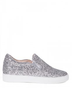 Espadrile argintii din glitter Argintiu - Incaltaminte - Incaltaminte / Pantofi sport