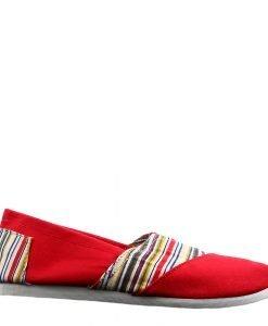 Espadrile dama Keri rosii - Incaltaminte Dama - Espadrile Dama