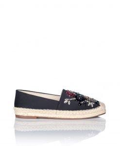 Espadrile decorate cu pietre colorate de sticla Negru - Incaltaminte - Incaltaminte / Pantofi fara toc