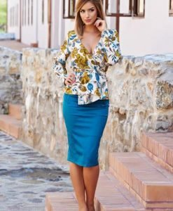 Fusta PrettyGirl Outlook Turquoise - Fuste -