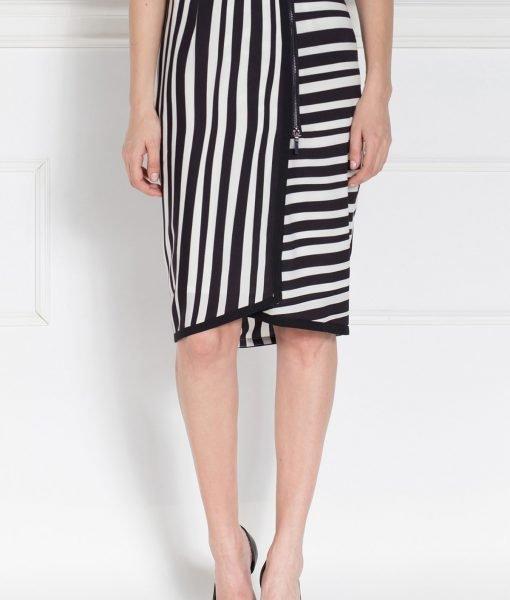 Fusta casual din print alb negru Alb/Negru – Imbracaminte – Imbracaminte / Fuste
