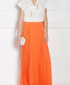 Fusta maxi plisata Orange - Imbracaminte - Imbracaminte / Fuste