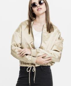 Geaca Kimono Satin pentru Femei auriu Urban Classics - Geci subtiri - Urban Classics>Femei>Geci subtiri