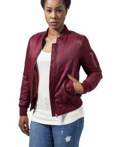 Geaca bomber primavara femei rosu burgundy Urban Classics - Geci bomber - Urban Classics>Femei>Geci bomber