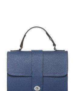 Geanta din piele naturala saffiano M167-2 albastru - Genti office -