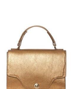Geanta mica tip tolba din piele naturala 167 bronz - Genti office -