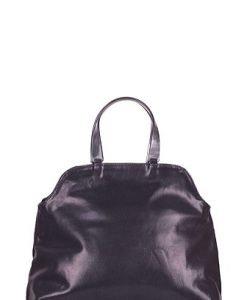 Geanta neagra din piele naturala lacuita model Nicole - Genti office -