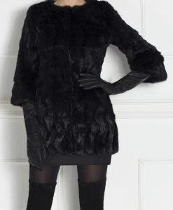 Haina neagra din blana naturala Negru - Imbracaminte - Imbracaminte / Haine de blana