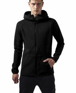 Hanorac Athletic cu guler inalt si fermoar negru Urban Classics - Hanorace cu fermoar - Urban Classics>Barbati>Hanorace cu fermoar