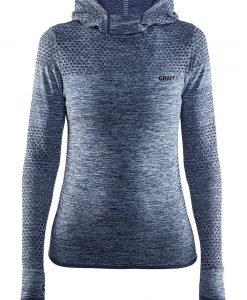 Hanorac dama Craft Core Hood Seamless Blue material functional - Lenjerie pentru femei - Al doilea strat