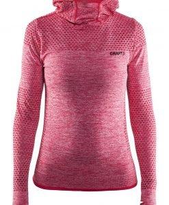 Hanorac dama Craft Core Hood Seamless Pink material functional - Lenjerie pentru femei - Al doilea strat