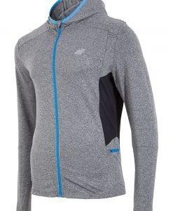 Hanorac sport barbatesc 4f Dry Control Grey - Haine si accesorii - Hanorace jachete