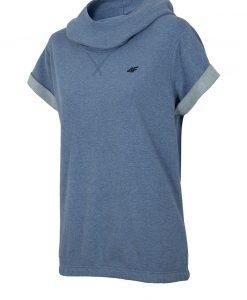 Hanorac trendy de dama Blue maneca scurta - Haine si accesorii - Hanorace jachete