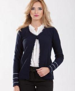 Jacheta bleumarin din tricot 1F.381-1 - Cardigane -