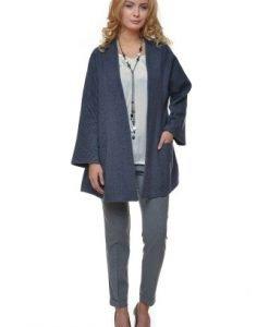 Jacheta casual cu buzunare laterale din lana ST04 bleumarin - Jachete -