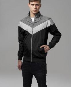 Jacheta cu Fermoar Arrow negru-gri inchis Urban Classics - Geci subtiri - Urban Classics>Barbati>Geci subtiri