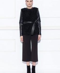 Jacheta cu insertii din piele ecologica Negru - Imbracaminte - Imbracaminte / Jachete si cardigane / Jachete
