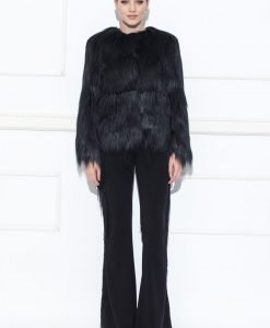 Jacheta din blana ecologica Negru - Imbracaminte - Imbracaminte / Jachete si cardigane / Jachete