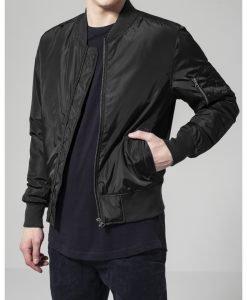 Jacheta doua culori Bomber negru-negru Urban Classics - Geci bomber - Urban Classics>Barbati>Geci bomber