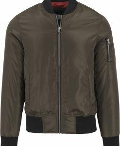 Jacheta doua culori Bomber oliv inchis-negru Urban Classics - Geci bomber - Urban Classics>Barbati>Geci bomber