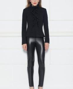 Jacheta eleganta cu volanase aplicate Negru - Imbracaminte - Imbracaminte / Jachete si cardigane / Jachete