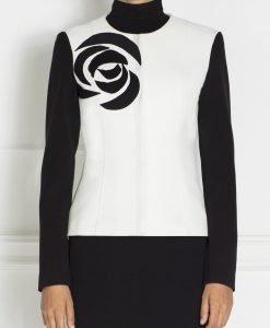 Jacheta eleganta in culori contrastante Negru/Alb - Imbracaminte - Imbracaminte / Jachete si cardigane / Jachete