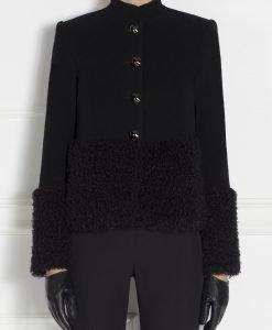 Jacheta groasa din fir natural de lana Negru - Imbracaminte - Imbracaminte / Jachete si cardigane / Jachete
