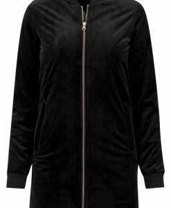 Jacheta lunga tip catifea pentru femei negru Urban Classics - Geci subtiri - Urban Classics>Femei>Geci subtiri