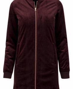 Jacheta lunga tip catifea pentru femei rosu burgundy Urban Classics - Geci subtiri - Urban Classics>Femei>Geci subtiri