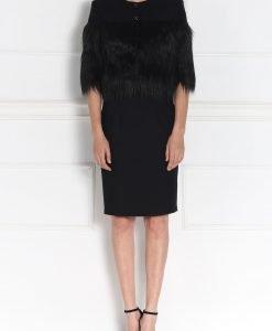 Jacheta neagra cu insertie din blana artificiala Negru - Imbracaminte - Imbracaminte / Jachete si cardigane / Jachete