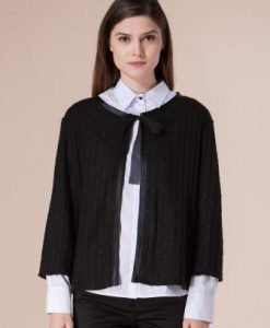 Jacheta neagra din lana D2225 - Cardigane -