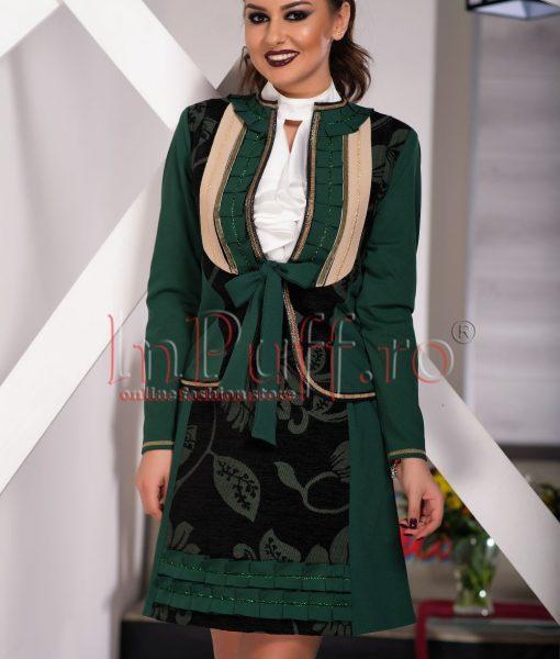 Jacheta verde cu aplicatii – SACOURI –