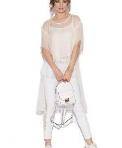 Jeansi cu dantela aplicata Alb - Imbracaminte - Imbracaminte / Pantaloni