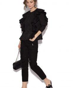 Jeansi cu pietre aplicate Negru - Imbracaminte - Imbracaminte / Pantaloni