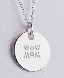 Lanț cu pandantiv WOW MOM argint - Produse > Cadouri WoW > Bijuterii WoW -