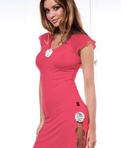 Neglijeu Coctail - corai - Lenjerie pentru femei - Neglijeuri de lux