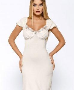 Neglijeu de lux Salomea Ecru - Lenjerie pentru femei - Neglijeuri de lux