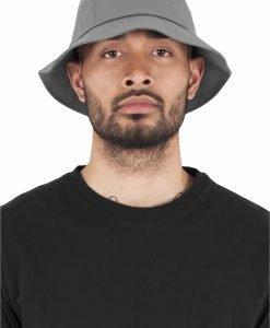 Palarie vara bumbac Flexfit Twill Bucket Hat barbati gri - Palarii Bucket - Flexfit>Palarii Bucket