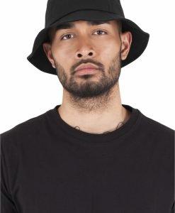 Palarie vara bumbac Flexfit Twill Bucket Hat barbati negru - Palarii Bucket - Flexfit>Palarii Bucket