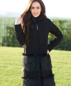 Palton Ana Radu Hot Senses Black - Paltoane -