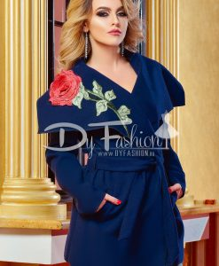 Palton Dark Blue Rose Lady - Haine - Paltoane/Jachete