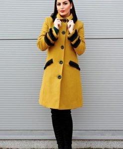 Palton LaDonna Best Look Yellow - Paltoane -