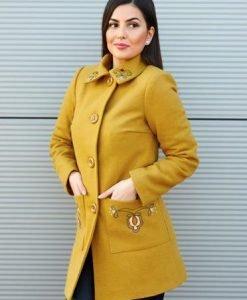 Palton LaDonna Fabulous Winter Yellow - Paltoane -