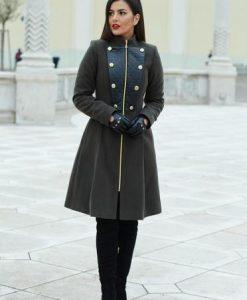 Palton LaDonna Military Lady DarkGreen - Paltoane -