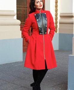 Palton LaDonna Military Lady Red - Paltoane -