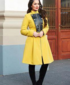Palton LaDonna Military Lady Yellow - Paltoane -