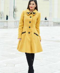 Palton LaDonna Splendid Style Yellow - Paltoane -