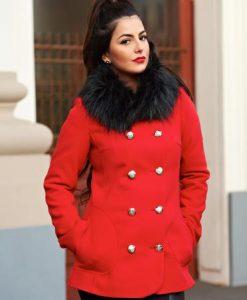Palton LaDonna Stylish Season Red - Paltoane -