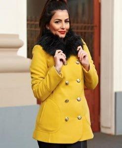 Palton LaDonna Stylish Season Yellow - Paltoane -