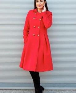 Palton PrettyGirl Military Style Red - Paltoane -